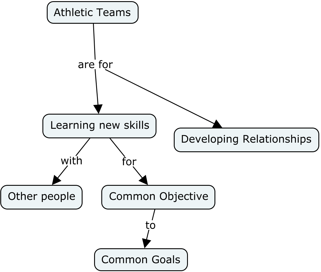 Athletic teams are for learning new skills and developing relationships